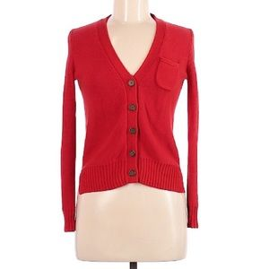 Wallace Madewell Cardigan Knit Jacket Sweater Red